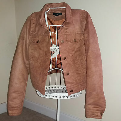 Ladies H&M Imitation Suede Casual Jacket in Light Camel