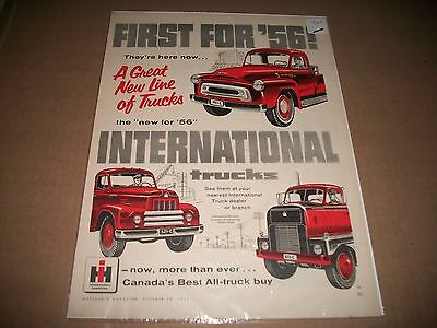 1956 International Trucks  Original Vintage Print Ad Cmystore4More
