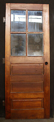"29""x76"" Vintage Wood Wooden Exterior Entry Side Back Door Glass Lite Pane Window"