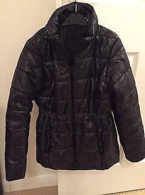 Girls Black With Stars And Hidden Hood Fitted Coat La Resolute Age 10