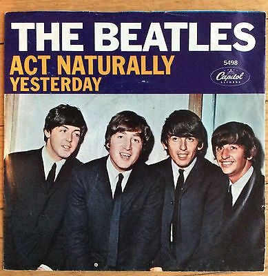 Beatles - Yesterday / Act Naturally 45 W/ Picture Sleeve, West Coast