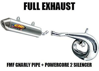 Fmf Gnarly Full Pipe Exhaust And Powercore 2 Silencer 02-16 Yamaha Yz250 Yz 250