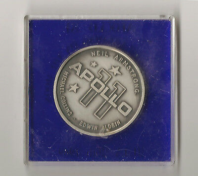 Mans First Landing on the Moon Coin Apollo 11 Space NASA USA Sci-Fi Science 1969