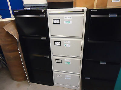 4 draw metal  filing cabinet with key