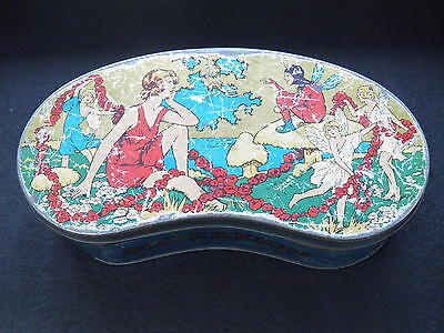 VINTAGE SOVEREIGN KING OF ALL TOFFEE'S ART DECO FAIRIES AND PIXIES TIN c1920