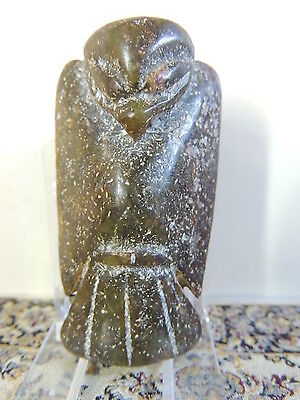 Antique Mongolian Neolithic Mythological  Stone Figure statuette,idol,god,Alien