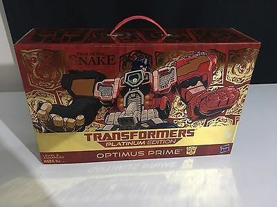 Transformers Optimus Prime Action Figure Platinum Edition Year Of The Snake