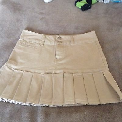 Gorgeous Taupe Chino Skirt By Ralph Lauren Polo Bnwot Age 12