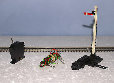 Hornby OO R086 Home Semaphore Signal elect motor + Base + Switch + wiring tested