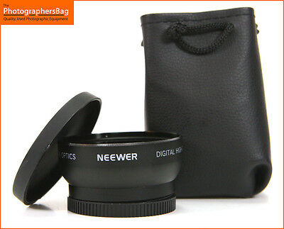 Neewer  Digital High Definition Wide Angle 0.45x Converter 52mm Lens Free UK P&P
