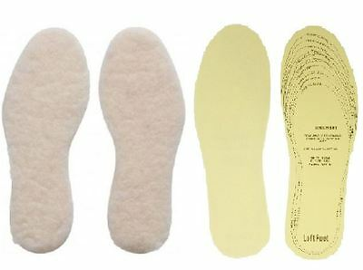 2 X Pairs Warm Thermal & Extra Comfort Insoles Shoes Boots Slippers Inserts