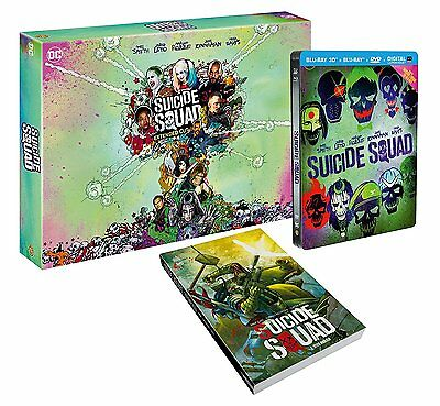 Suicide Squad - Collector's Edition Steelbook w/ Comic (Blu-ray 2D/3D) BRAND NEW