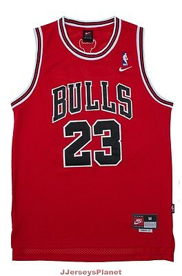 NWT Throwback Swingman Basketball Jersey MICHAEL JORDAN 23 Chicago Bulls Red Men