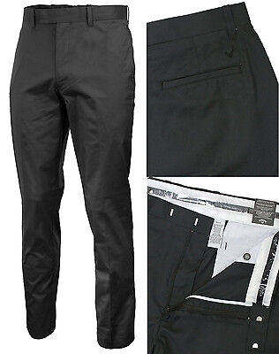 Callaway Golf Mens Cotton Chev Trousers Flat Front Stretch Pant W36 W38 W40 L34