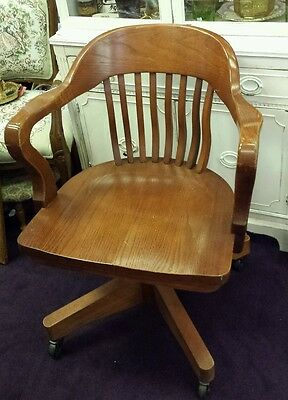OAK COLLECTIBLE VINTAGE SWIVEL & Rocking OFFICE CHAIR