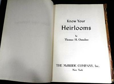 Antique Know Your Heirlooms Guide Auction Items America Usa Us Collectibles Art