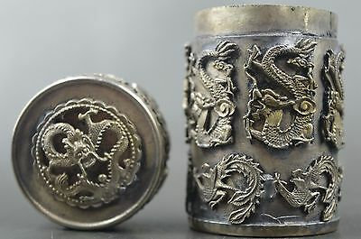 Handwork Collection Miao Silver Carve Dragon Phoenix Auspicious Usable Toothpick
