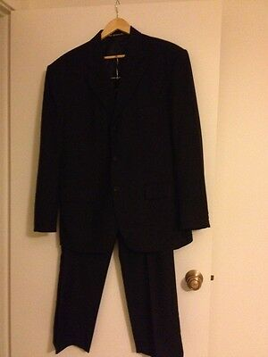 Black men's suit / tailored made /The Odermark brand ,Italian wool fabric