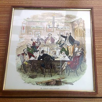 """Framed Signed Print Of The Pickwick Papers """"Mr Pickwicks Address To The Club"""""""
