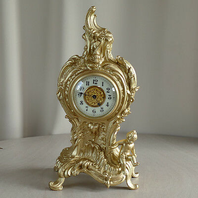 Re-gilded French Mantle Clock