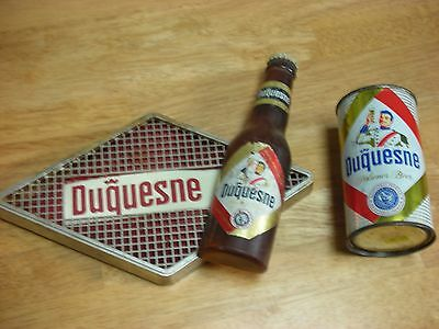 Vintage DUQUESNE FLAT TOP BEER CAN & SIGN Pittsburgh PA.