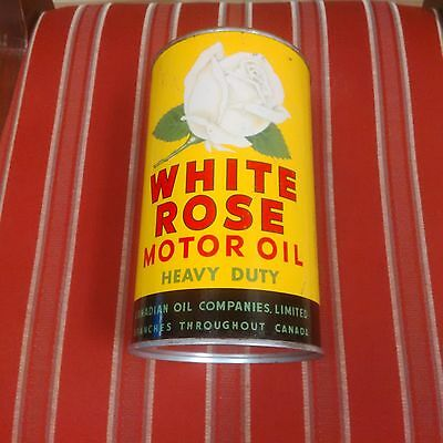 White Rose (Green) Heavy Duty Motor Oil 1 Imperial Quart Can