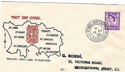 Jersey,  1958 Ill. Fdc. With Great St. Brelades Bay D/c