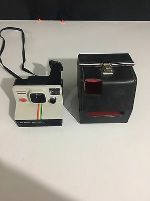 Polaroid Vintage Camera And Leather Case