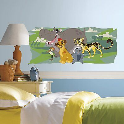 RoomMates RMK3175GM Lion Guard and Friends Peel and Stick Giant Wall Graphic