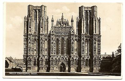 1930 Real Photo Of Wells Cathedral. Somerset. Pu From Gloucester 1930.