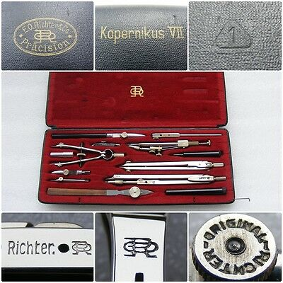VINTAGE Germany ORIGINAL RICHTER KOPERNIKUS VII PRECISION DRAFTING COMPASS TOOLS