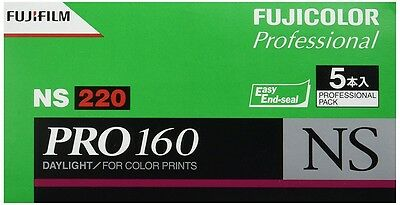 FUJIFILM PRO160 NS 220 Color Negative Film 5 Rolls with tracking