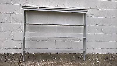 DRESSER TOP STYLE WALL HUNG PLATE DISPLAY RACK Powder grey colour