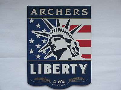 New & Unused Beer Pump Clip Badge - ARCHERS - LIBERTY