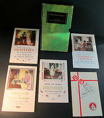 1930s SINGER SEWING LIBRARY Vol. 1,2,3,4 + Gift Sewing Booklet