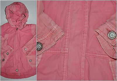 Next Girl Pink Coat Parka Jacket 3-4 Years Eur 104Cm Lightweight Hoodie Cotton