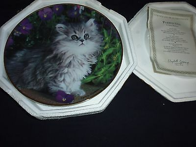 Franklin mint plate 'Purrfection'