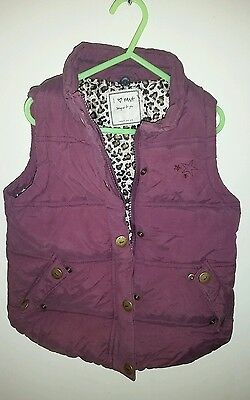 girls Next purple bodywarmer age 5-6 years