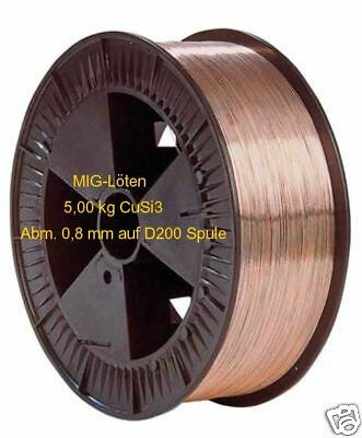MIG Soldering wire CuSi3 5,00 kg Abm. 0,8 mm to D 200 Coil