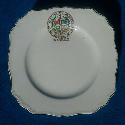 Vintage J & G Meakin City of Melbourne pottery pin dish plate