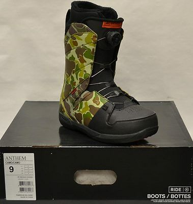 '16 / '17 Ride Anthem Boa Snowboard Boots – Camo - 9 *NEW*