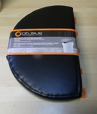 Celsius Ice Fishing Half Bucket Seat with Rod Organizer Padded NEW