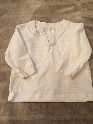 0-3 Months White Long Sleeve Top