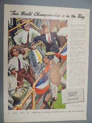 1937 Arrow Shirts-This World Championship Is In The Bag-Vintage Ad