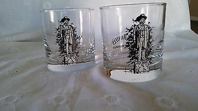 Rare Jack Daniels Statue Lowball Whiskey Glasses-Set Of 2 -Nice!