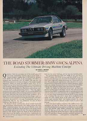 1977 BMW 630CSi ALPINA  ~  GREAT 2-PAGE ARTICLE / AD