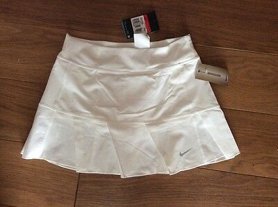 Girls Nike Dri Fit White Pleated Tennis Skirt / Skort 12-13 Years BNWT
