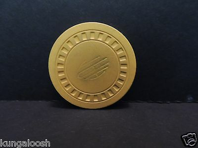 Vintage Illegal Poker Room yellow CHIP from Top Hat Club