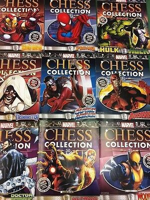 Marvel Chess Collection Lot of 9 Magazines ONLY