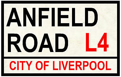 Street / Road Signs (Anfield Road) - Souvenir Novelty Fridge Magnet - Gift